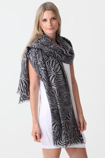 Pashmina Couture Print Zebra cloud burst
