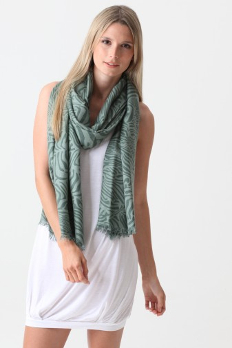 Pashmina Couture Print Zebra iceberg green