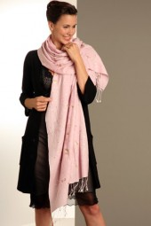 Embroidered Pashmina 70x200cm rose