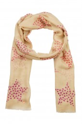Eco-Shahtoosh Star Beige azala pink