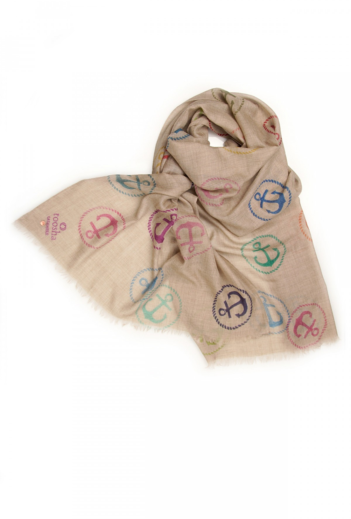 Eco-Shahtoosh Natural Anchor Multicolour