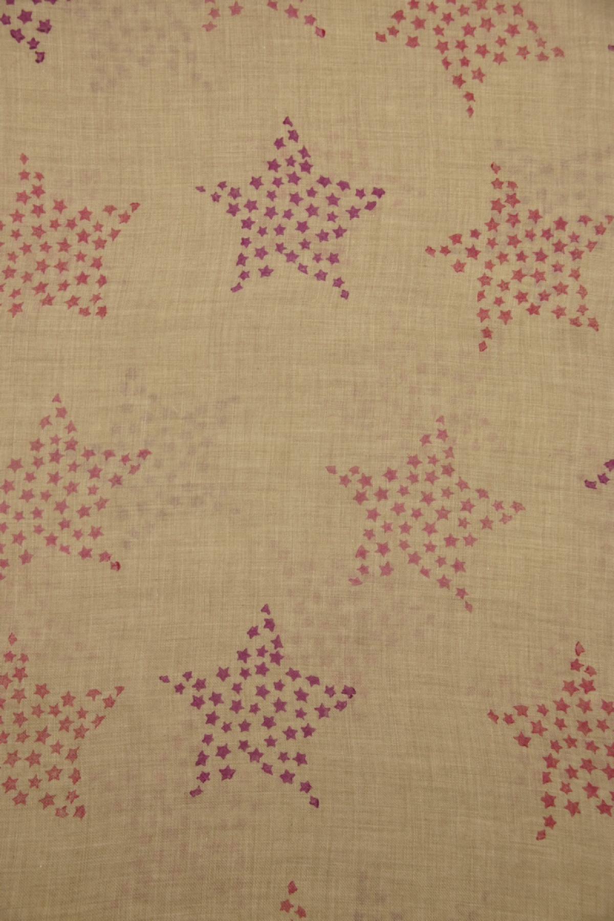 Eco-Shahtoosh Natural Star azala pink